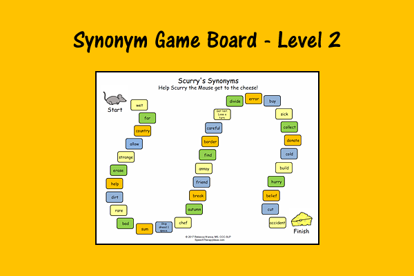 Synonym Game Board – Level 2