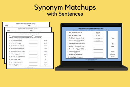 Synonym Matchups with Sentences