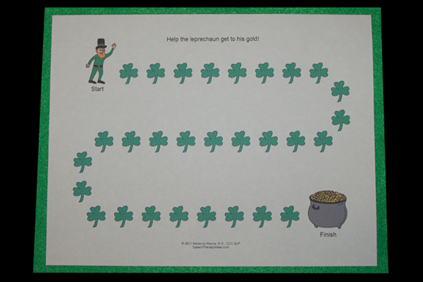 Free St. Patrick's Day Therapy Game