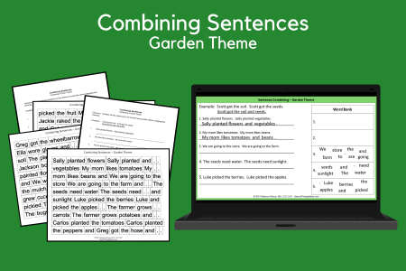Combining Sentences - Garden Theme