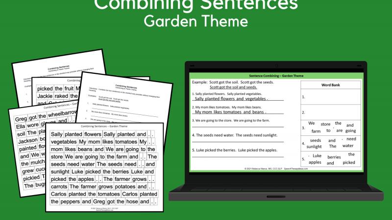 Combining Sentences – Garden Theme