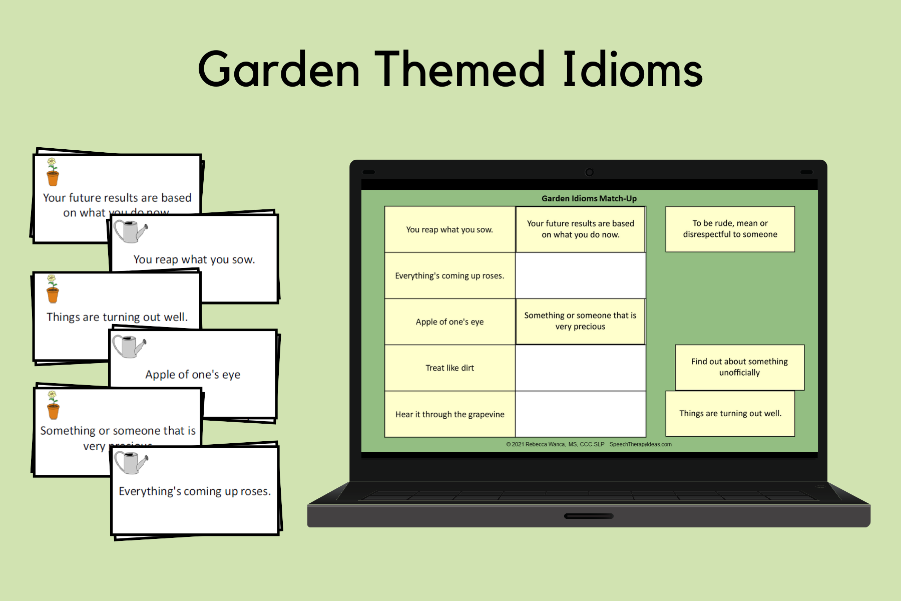 Garden Themed Idioms