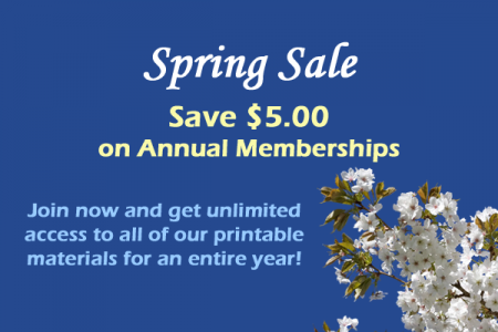 Spring Sale on Annual Memberships