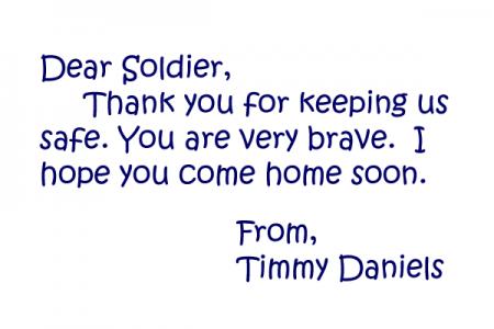 Dear Soldier Letter