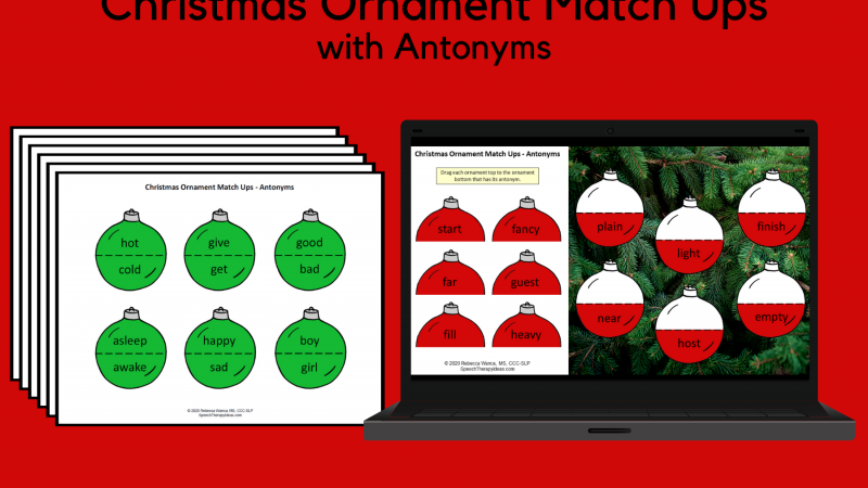 Christmas Ornament Match Ups