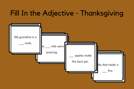 Fill In the Verb - Thanksgiving
