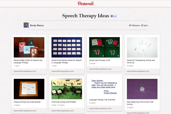 Speech Therapy Ideas On Pinterest
