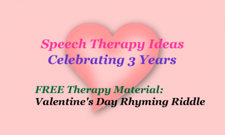 Free Therapy Material: Valentine's Day Rhyming Riddles