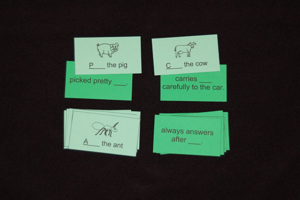 Alliteration Activity Cards