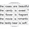 Valentines Day Rearranging Sentence Parts