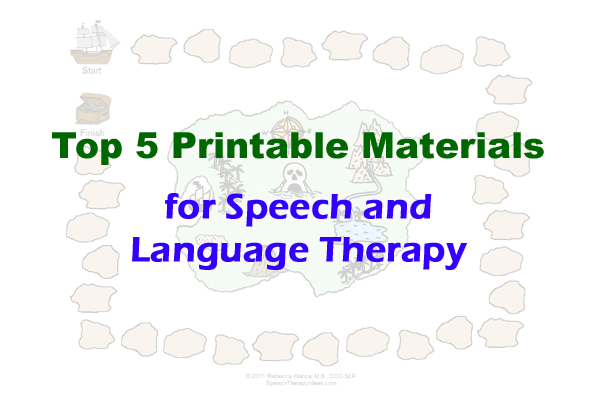 Top 5 Printable Materials For Speech And Language Therapy