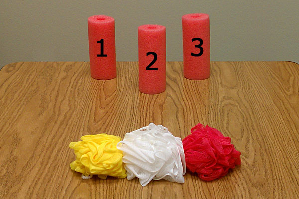 Noodle Knock Down Game For Writing Prompts