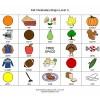 Fall Vocabulary Bingo Game - Level 1