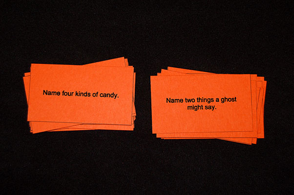 Halloween Card Game For Naming Skills