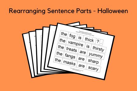 Rearranging Sentence Parts - Halloween