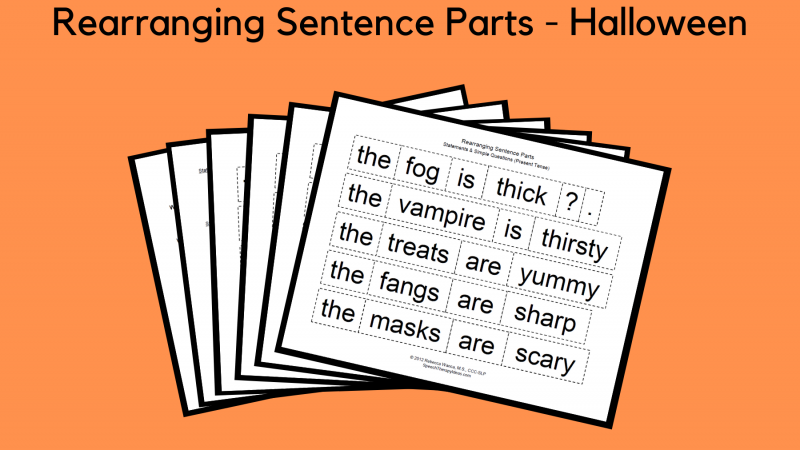 Rearranging Sentence Parts – Halloween