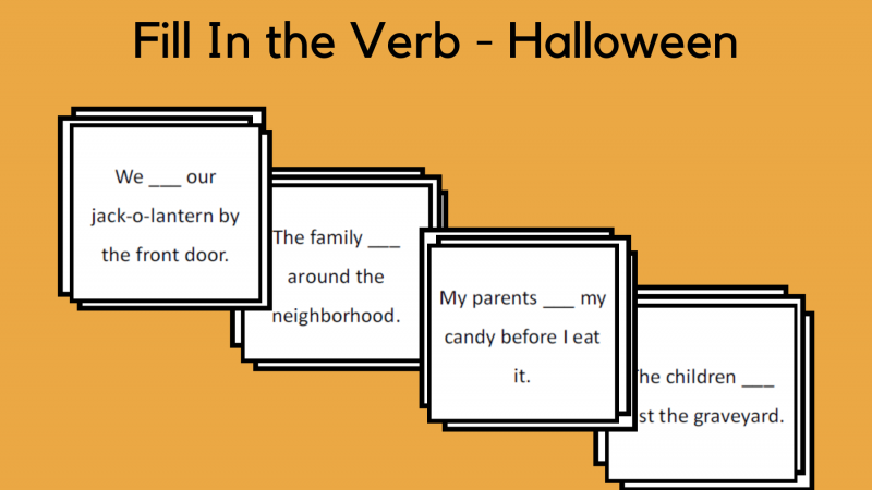 Fill In The Verb – Halloween