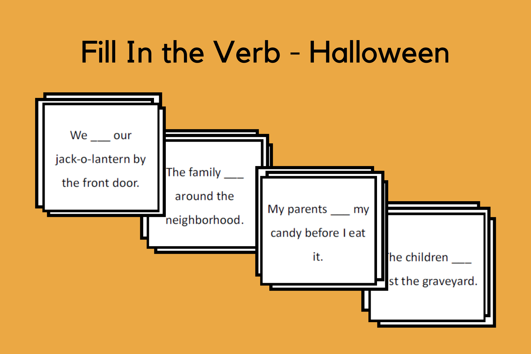 Fill In the Verb Sentences – Halloween