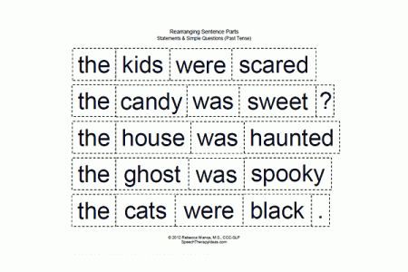 Rearranging Sentence Parts - Halloween