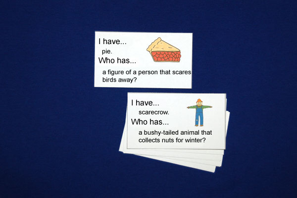 "Picture Cards For ""Who Has…?"" Game"