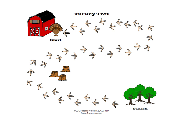 Turkey Trot Game Board