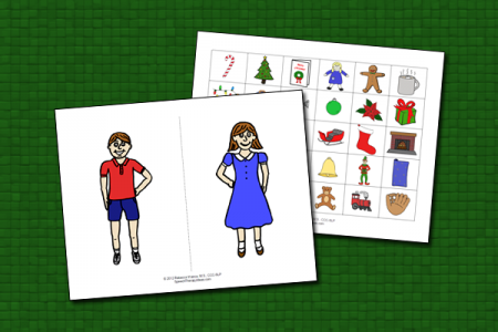 Christmas Pronouns and Possessives with Boy and Girl
