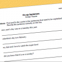 Capitalization Fix-up Worksheet – Winter Theme