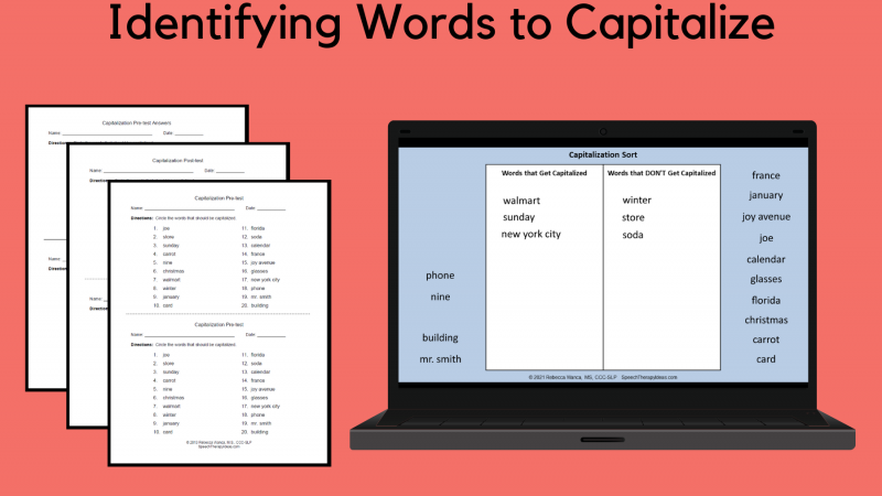 Identifying Words To Capitalize
