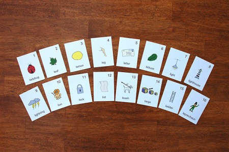 Speech Games - Picture Cards Initial L Sound