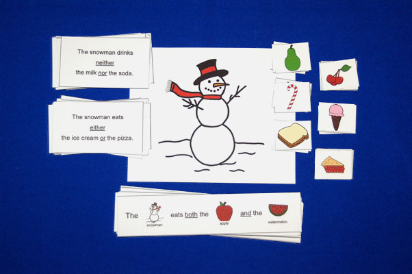 Snowman Language Activity For Either, Neither, And Both