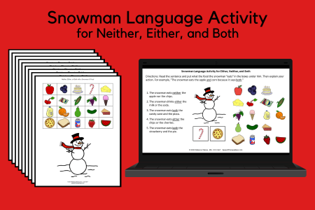 Snowman Activity - Neither, Either, and Both