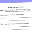 Language Worksheet For Using Correct Capitalization