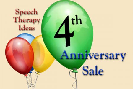 Speech Therapy Ideas 4th Anniversary Sale!