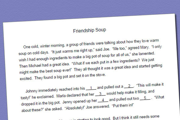 Fill In Story For /k/: Friendship Soup