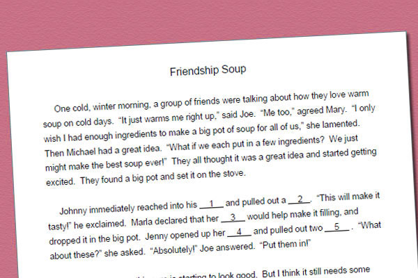 Fill In Story For /s/: Friendship Soup