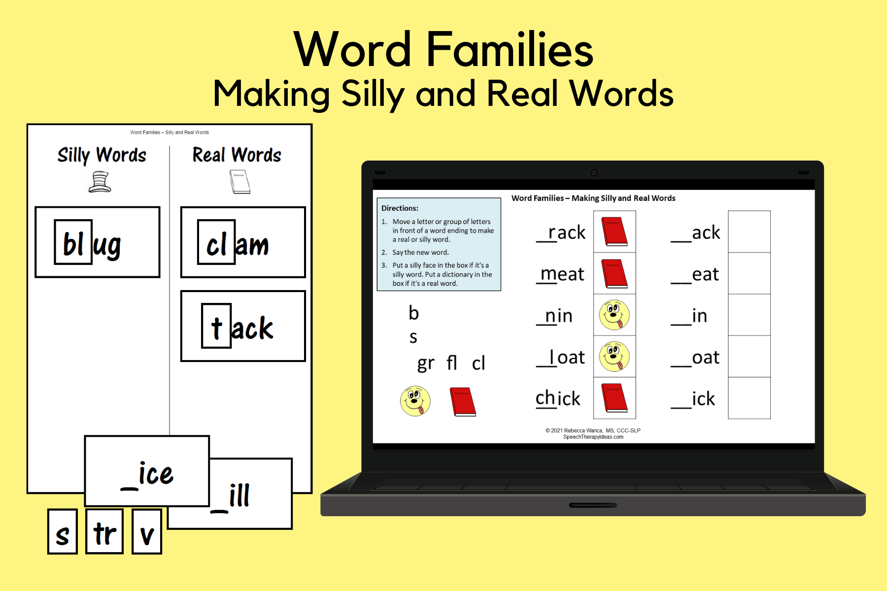 Word Families – Making Silly and Real Words