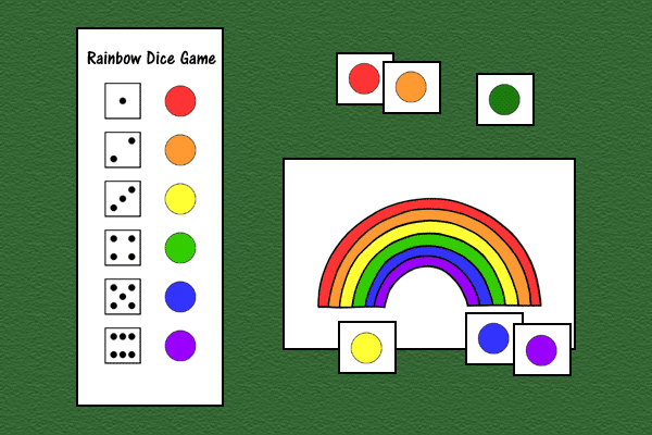 Rainbow Dice Game