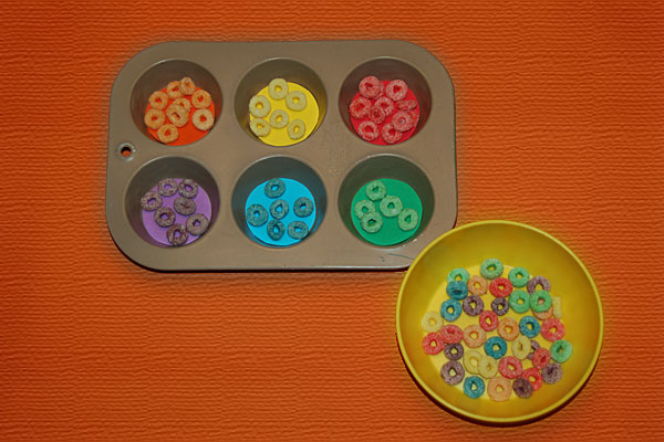 Fruit Rings Cereal Sorting Activity