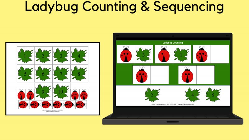 Ladybug Number Matching And Sequencing