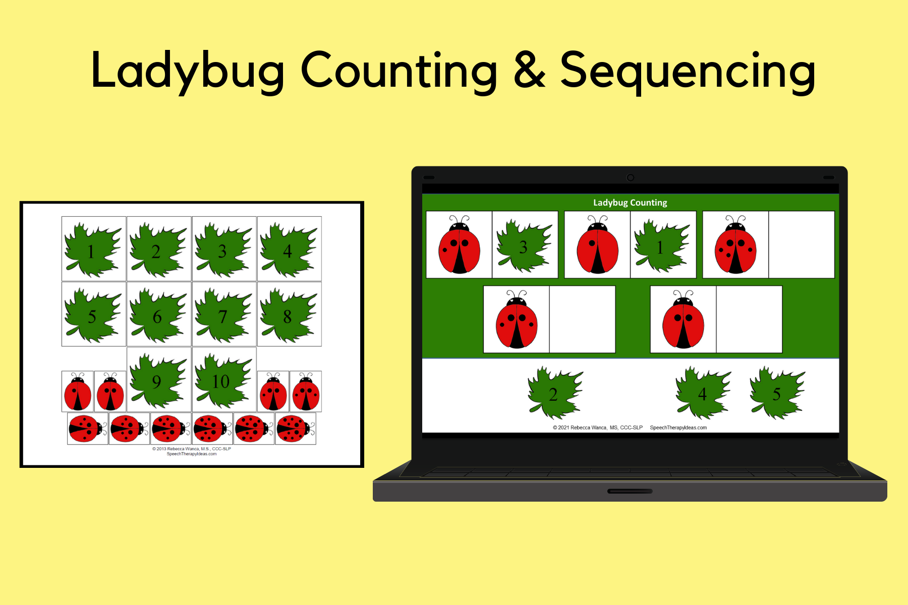 Ladybug Number Matching & Sequencing