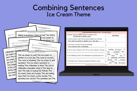 Combining Sentences - Ice Cream Theme