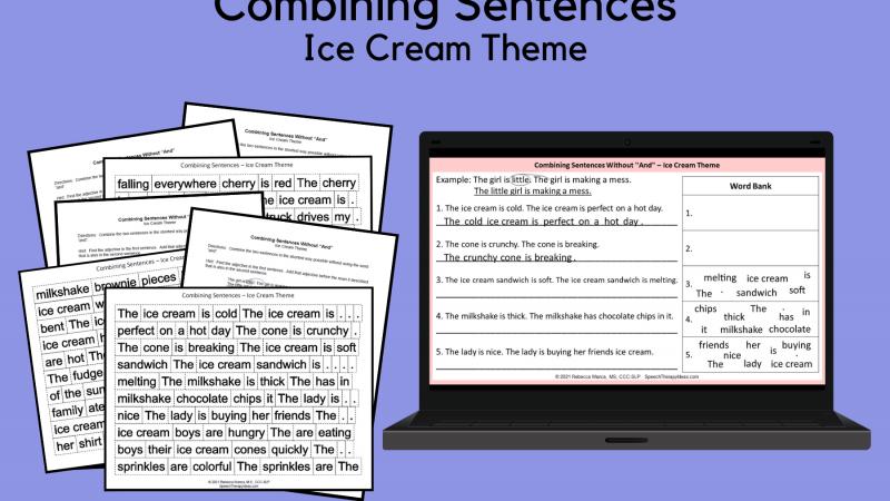 Combining Sentences – Ice Cream Theme