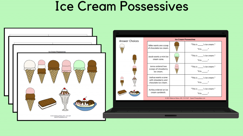 Ice Cream Possessives