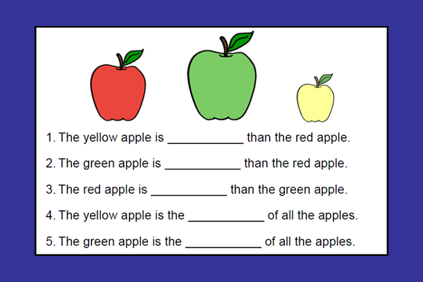 Apple Comparing Worksheet