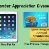 Member Appreciation Giveaway - iPad Air, Visa Gift Card, Annual Membership