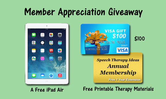 Member Appreciation Giveaway – IPad Air, Visa Gift Card, Annual Membership