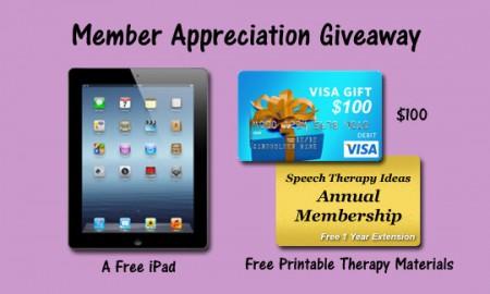 Member Appreciation Giveaway - iPad, Visa Gift Card, Annual Membership