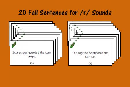 Fall Sentences for /r/ Sounds