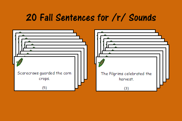 Fall Sentences for /r/ Sounds