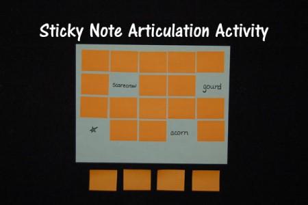Sticky Note Articulation Activity